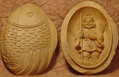 Ebisu - Japanese Good-Luck Amulet made of Sandalwood,God of Good Fortune, the Ocean, he symbolizes not only safe sailing and plentiful fishing, but business prosperity for merchants in all trades and success to people in any occupation.