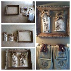 DIY Home Decor on a Budget! Framed Birdcages! Tutorial #1