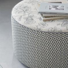 Warwick Fabrics: MANDALAY collection / fabric textiles / upholstered ottoman