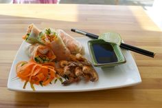 Shrimp rolls!