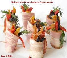 » Idei de mini aperitive gen mise en boucheCulorile din Farfurie Fresh Rolls, Camembert Cheese, Bacon, Appetizers, Snacks, Table Decorations, Ethnic Recipes, Party, Food