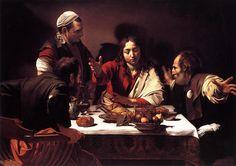 Los discípulos de Emaús, Cena de Emaús, Cena in Emmaus) - Caravaggio (1596-1602)