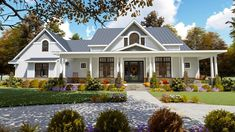 Find your dream modern-farmhouse style house plan such as Plan which is a 2787 sq ft, 3 bed, 2 bath home with 2 garage stalls from Monster House Plans.