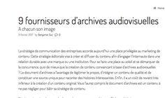 fournisseurs archives audiovisuels