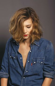 celine sallette Hairstyles Over 50, Cool Hairstyles, Hair Styles 2016, Short Hair Styles, Wavy Bobs, Curly Hair Cuts, French Beauty, French Actress, Hair Beauty