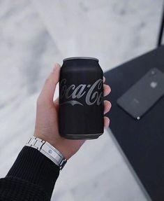 - The Luxury Lifestyle Magazine - Matte Black Coke ⚫️ By: Black Food, All Black, Black Heart, Black White, Organizar Instagram, Coca Cola Can, Catty Noir, Carla Brown, Black And White Aesthetic