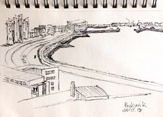 Reykjavík from hotel room. Weekend Artist, Sketch, Ink, Room, Sketch Drawing, Bedroom, Sketches, Rooms, India Ink