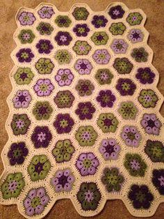 My purple & green afghan