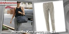 Want to know where Miranda Kerr got her trousers from whilst out in New York? Style on Screen can tell you!