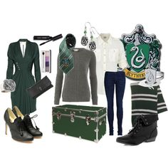 Slytherin, created by claudia-suhrbur on Polyvore