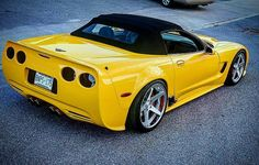 C5 Corvette Wheels Yellow Chevy Muscle Cars Best