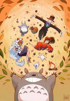 Ghibli Party by Koni-art.deviantart.com on @DeviantArt