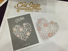 Bloomin Heart Thinlits Dies from the new Stampin Up! Occasions Catalog. Debbie Henderson, Debbies Designs.