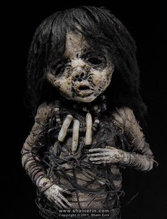 https://flic.kr/p/aknh5T | Mummy Art Doll Sculpture – M37 | Mummy Art Doll Sculpture – M37  Please see my Profile Page for more information.  Handmade Doll Sculpture. 8.50 inches tall. Mixed media.  Copyright © 2011, Shain Erin. All rights reserved.