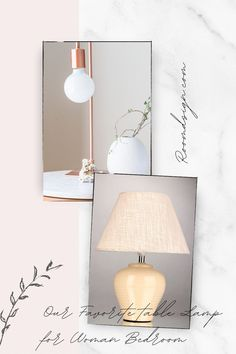 Our favorite table lamp that will bring a gorgeous and stylish look for woman bedroom. Rose Gold Lamp, Rose Gold Table, Rose Gold Decor, Table Lamps For Bedroom, Bedroom Decor, Rose Gold Bedroom Accessories, Small Desk Lamp, Gold Desk, Simple Rose