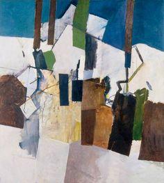 Keith Vaughan (British, Farm Buildings, Oil on hardboard, x 92 cm Aberdeen Art Gallery, Modern Art, Contemporary Art, Art Village, Glasgow School Of Art, Colorful Paintings, Abstract Paintings, Building Art, Art Moderne