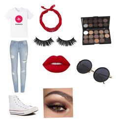 """""""#babyariel  musically 4 life"""" by cheetahbeat on Polyvore featuring Converse, New Look and Lime Crime"""