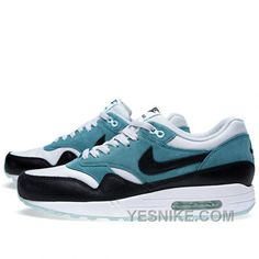 san francisco 4c5c2 7b6f7 Buy Soldes Temps Limite Nike Air Max 1 Essential Femme Teal Dusty Grise  Noir Blanche Magasin Discount from Reliable Soldes Temps Limite Nike Air  Max 1 ...
