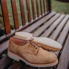 Introducing the Tricker's Daniel men's tramping shoe. A new style for Spring Summer available in peanut kudu reverse suede. Smart Casual Office, Casual Office Attire, New Shoes, Men's Shoes, Trickers Shoes, Shoe Horn, Shoe Tree, Derby Shoes, Natural Rubber
