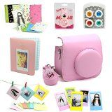 7 in 1 instax Mini 8 Instant Film Camera Accessories Bundles ( Pink Instax Mini 8 Case/ Mini Album/ Close-Up Selfie Lens/ 4 colors Close-Up Lens/ Wall Hang Frames/3 inch Film Frame/ Film Stickers) - http://shopattonys.com/7-in-1-instax-mini-8-instant-film-camera-accessories-bundles-pink-instax-mini-8-case-mini-album-close-up-selfie-lens-4-colors-close-up-lens-wall-hang-frames3-inch-film-frame-film-stickers/