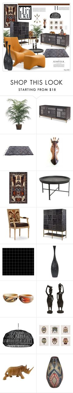"""kinfolk"" by mcheffer ❤ liked on Polyvore featuring interior, interiors, interior design, home, home decor, interior decorating, Herat Oriental, Palecek and Kim Seybert"