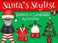Santa's Stylist: Speech & Language Activities