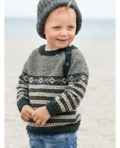 Knitting For Kids, Crochet For Kids, Baby Knitting, Crochet Cowl Free Pattern, Knit Crochet, Jumper Patterns, Knitting Patterns, Baby Boy Sweater, Baby Barn