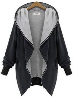 Cardigan Blazer, Hooded Cardigan, Cardigan Sweaters, Long Cardigan, Blazer Jacket, Long Hooded Coat, Hooded Coats, Hooded Parka, Women's Coats