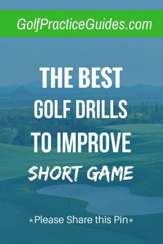 The best golf drills to improve your short game (putting chipping pitching) to help you sink more putts stop 3 putting save pars when you miss greens in regulation get up and down etc. Click the link to get these drills and share with a friend! Golf Chipping Tips, Golf Putting Tips, Golf R, Disc Golf, Golf Practice, Used Golf Clubs, Golf Videos, Golf Club Sets, Golf Instruction