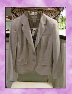 WOMENS WORTHINGTON STRETCH DRESS JACKET    BRAND NEW WITH TAGS    LIGHT GREY    SIZE 16    FULLY LINED    POLYESTER/RAYON/SPANDEX BLEND    4 BUTTONS ON EACH SLEEVE    2 FAUX POCKETS IN FRONT    SELLS FOR 60.00