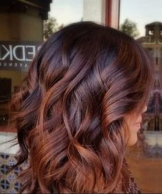 Brown to Caramel Balayage fall hair colors