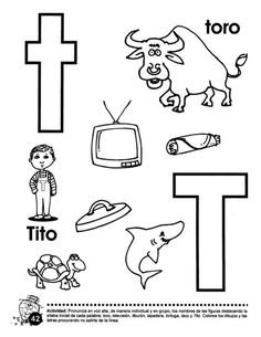 Libro trompito (1) Letter T Activities, Preschool Letters, Abc Worksheets, Finger Plays, Step Kids, Childcare, Crafts For Kids, Christian, Lettering