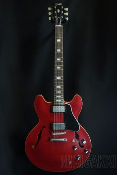 GIBSON CUSTOM SHOP[ギブソンカスタムショップ] Memphis 1963 ES-335TD Block VOS Sixties Cherry|詳細写真