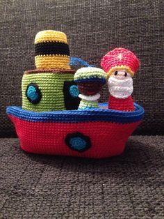 Stoomboot met Sint en piet - made by boukje oktober 2013