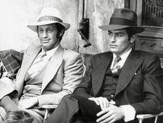 Photo de Jean-Paul Belmondo et Alain Delon dans le film Borsalino