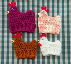 Crochet easter items | Crocheted Easter Chicken Instructions