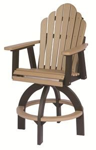 Amish Poly Wood Cozi-back Outdoor Swivel Bar Stool