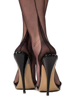 Gio Classic Fully Fashioned Point Heel Stockings - Fashion For WomenGio Classic Fully Fashioned Point Heel Stockings Sexy High Heels, Sexy Legs And Heels, Beautiful High Heels, Hot Heels, Black Mules Heels, Pantyhose Heels, Stockings Heels, Black Pantyhose, Nylon Stockings