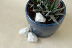 DIY Cement Gem Ornaments // Lovely Indeed