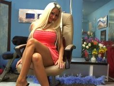 Hot blonde cybersex cam chat girl Blake in short dress - sexy legs, big tits - more NEW HD pics added in my Fan Club - www.bustyblake.com