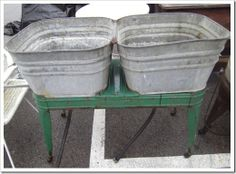 old wash tubs......drink cooler, flower pot, the ideas are endless