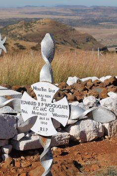File:Memorial Cross at Spioenkop battlefield. Near this spot Major General Sir Edward R P Woodgate KC MC CB Fell mortally wounded Jan 24 1900 RIP Major General, Garden Sculpture, Fall, Outdoor Decor, Autumn