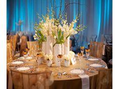 Silk Flower Centerpieces for Wedding Reception