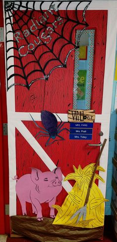 Charlottes Web Book Report Pin On Door Decorating Charlottes Web Activities, Charlotte's Web Book, Web Class, Reading Fair, Web Activity, Book Report Projects, Fair Theme, School Doors, Web Themes
