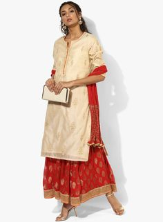 Buy Biba Beige Embroidered Kurta Skirt Dupatta online in India at best price.A stunning and glamorous pick for urbane women is this beige suit set from BIBA. Comprising a knee-length Kurta Skirt, Beige Suits, Designer Punjabi Suits, Salwar Suits, Festive, Ethnic, Glamour, India, Skirts