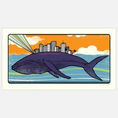 Fab.com | Whale Art Print 25x13