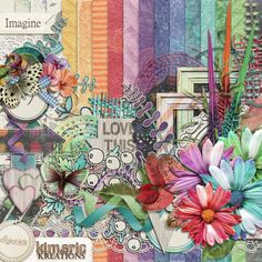 Digital Scrapbook Kit, Imagine by Kineric Kreations at the DigiChick