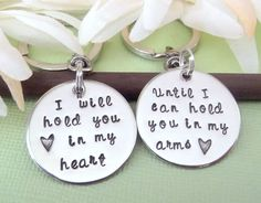 Long Distance Relationship Key Chains by MadeFromWithin on Etsy,