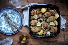 I can not even begin to explain how tasty this dish was, each mouthful a marvelous burst of the Mediterranean. To prepare, coat 6-8 free range chicken drumstick