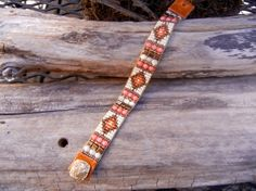 Beaded loomed wrap bracelet with coral by UnderWrapsBoutique, $55.00